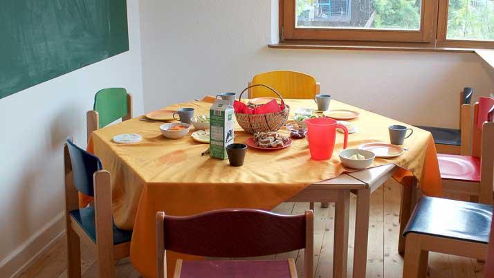 Frühstückszimmer der Koalas